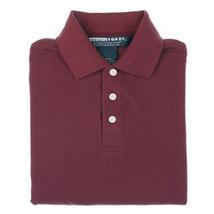 School Uniforms 14 Husky Burgundy Wine Maroon Short Sleeve Unisex Polo Shirt - $12.71