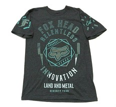 Buckle Fox Head Relentless Charcoal Grey Graphic T-Shirt Adult Men's Siz... - $32.62