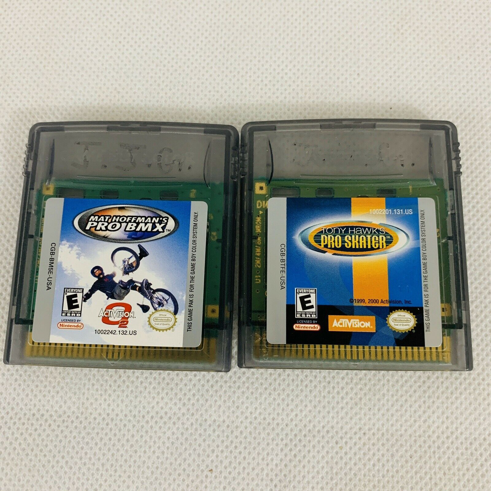 Lot of 2 Game Boy Color games - Dave Mirra BMX - Tony Hawk's Pro Skater