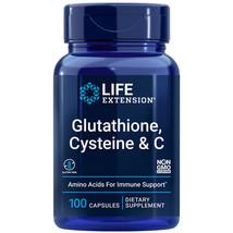 L-Glutathione, Cysteine and Vitamin C 100 Caps Amino Acid Immune Life Extension - $16.78