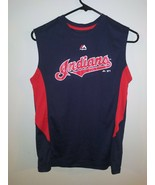 Youth Size Large Cleveland Indians Official Majestic MLB Sleeveless Shir... - $24.74