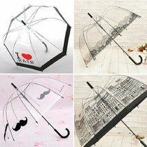 Long Handle Umbrella Fashion Creative Transparent Semi-automatic Women U... - $27.98