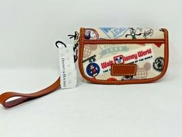 Disney Parks Dooney and Bourke 40th Anniversary Wristlet Snap Flap Goofy... - $79.19