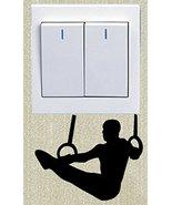 Men's Gymnastics Sports Light Switch Sticker Wall Decal Vinyl Shipped fr... - $3.91