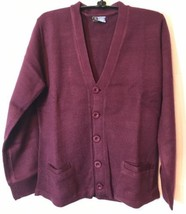 CFJWear School Uniform Burgundy/Wine Cardigan Sweater SZ: Youth XSmall -New - $19.20