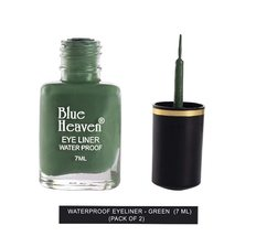 Blue Heaven Water Proof Regular Eyeliner - Green, Green, 7 ml (Pack of 2) - $8.81