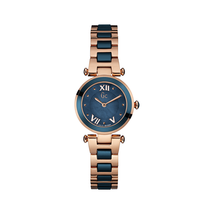 Guess Y07010L7 Ladychic Rose Gold Blue Two Tone Wristwatch - $392.50