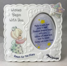 Signed Precious Moments Frame Wishes Begin with You Reach for the Stars ... - $14.50