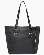 REBECCA MINKOFF HU17EMIT97 Black Leather Studded Midnighter Tote/Shoulde... - $177.21