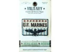 Karen Foster Designs Military Patch & Twill Tape U.S. Marines #00327