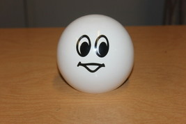 Smiley Face Piggy Bank PAINTED WOOD Figurine - $7.23