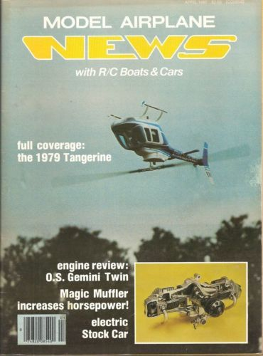 Primary image for Vintage Model Airplane News with R/C Boats & Cars  - April 1980