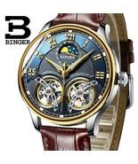 New Mechanical Men Watch Binger Luxury Skeleton Wrist Sapphire Waterproo... - $136.99+