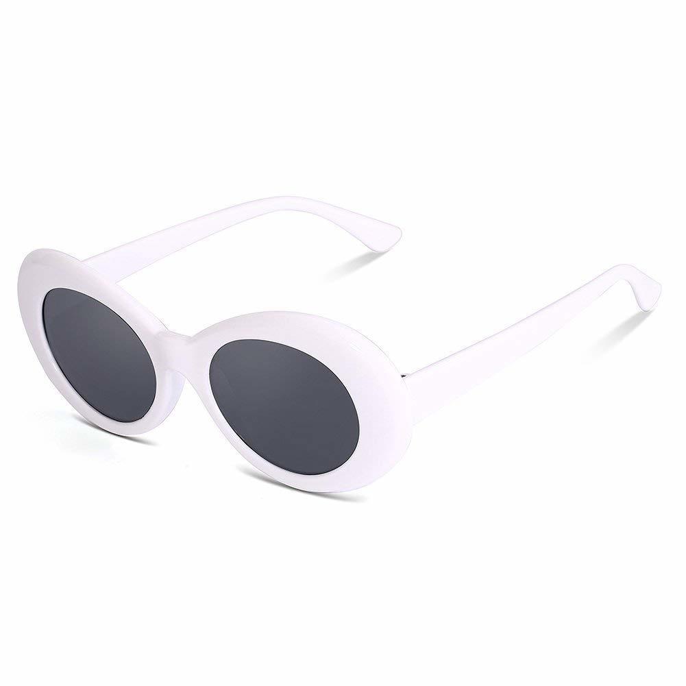7b13ab82a27 ... Clout Goggles Kurt Cobain Sunglasses Oval Vintage Retro Bold Mod Shades  ...