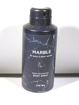 Bath Body Works Men's Collection MARBLE Body Spray Mist 3.7 Oz NEW Full ... - $12.83