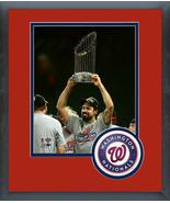 Anthony Rendon w/2019 World Series Championship Trophy 11x14 Matted/Fram... - $42.95