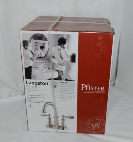 Pfister Langston F043LNKK Lavatory Faucet Brushed Nickel Finish