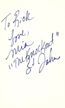 """MIA ST. JOHN Autographed Hand SIGNED 4x6  INDEX CARD w/COA BOXING """"The K... - $14.99"""