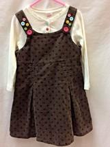 Gymboree Dress Shirt Set 5 Girls Polka Dots Matching Buttons Outfit - $23.71