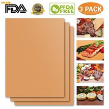 Best BBQ Copper Grill Mat Set of 3 100% Non-Stick Grill Mat FDA Approved... - €14,97 EUR
