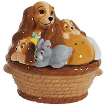 Walt Disney's Lady and the Tramp Lady with Puppies Salt and Pepper Shake... - $26.11