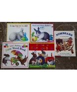 4 Alan Baker books Black and White Rabbit's ABC, Gray Rabbit's 1 2 3, + ... - $6.99