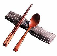 PANDA SUPERSTORE National Style Portable Tableware Wooden Spoon & Chopsticks (Co
