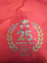 VINTAGE SUPER MARIO BROS 25th ANNIVERSARY RED CANVAS BAG BROTHERS NINTEN... - $13.33