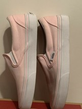 Vans Classic Blush Pink Slip On Loafers Slides Skate Authentic Womens 6.5 image 2