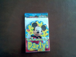 MICKEY Mouse Hallmark Birthday Party Invitations 8 Cards and  Envelopes - $3.85