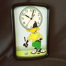 Vintage Westclox Golfing Daffy Duck Wall Clock 1994 Warner Brothers USA ... - $18.32