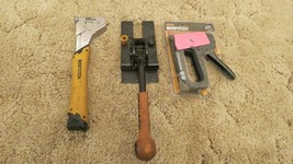 Lot of 3 Bostitch Hand Tools Staplers and Band Puller (For Parts or Repair)  - $39.55