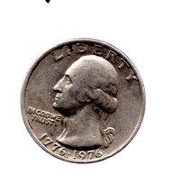 1976 Circulated Washington Bi-Centennial Quarter - Granny Estate Sale Di... - $3.99