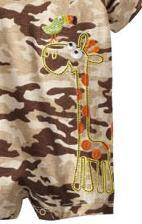 Baby Togs Baby Boys Giraffe Knit Romper