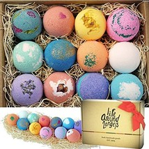 Lot 12 Bath Bomb Gift Set Made in USA Fizzies Bathbombs Girlfriend 2 inc... - $33.61