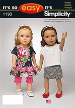 Simplicity Patterns 18-Inch US1193OS It's So Easy Clothes for Doll, OS (ONE SIZE - $11.76