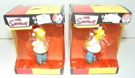 (2) The Simpsons Homer Ornament Christmas American Greeting 2005 Candy C... - $8.76