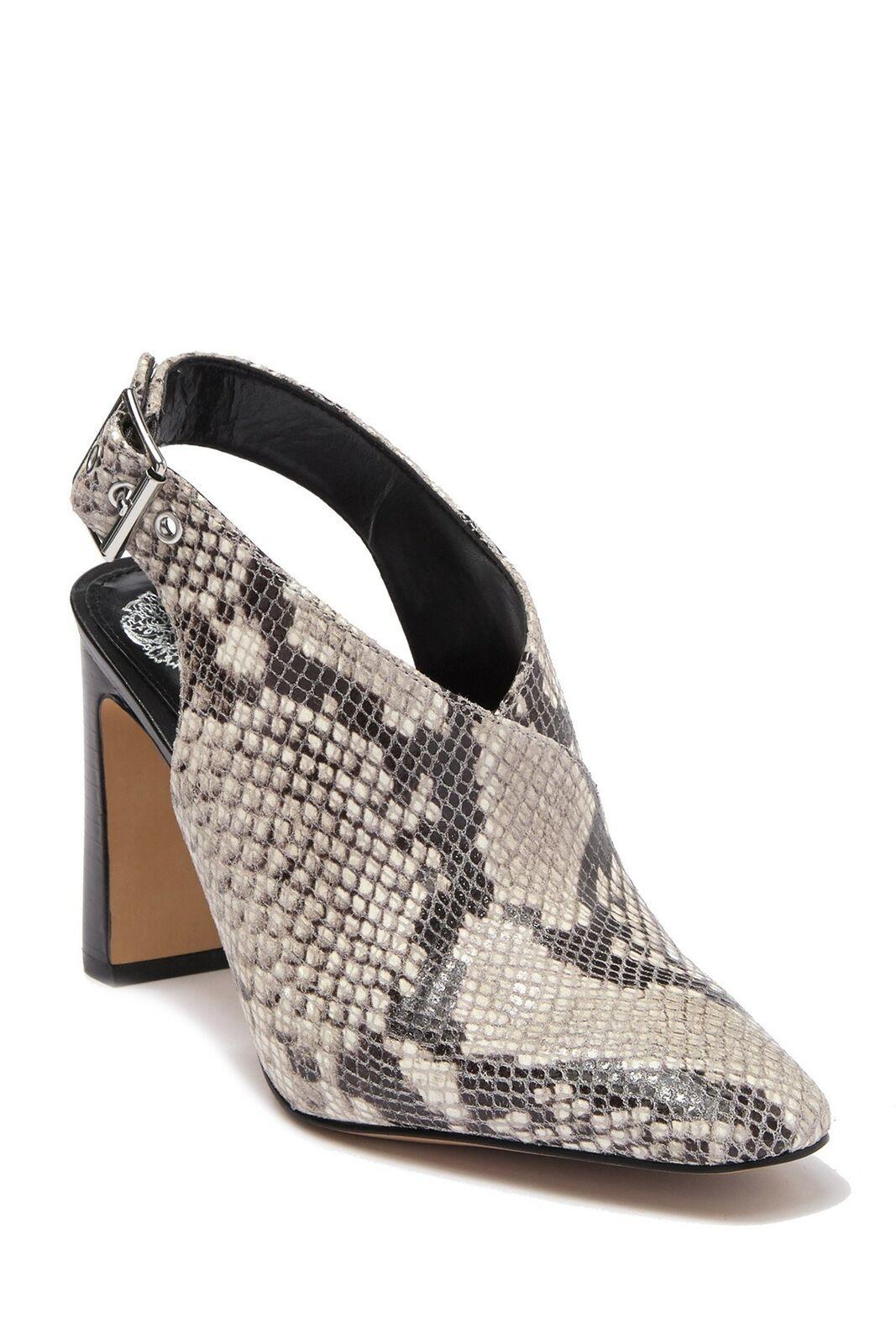 Vince Camuto Women Slingback Heels Saleesha Size US 4.5M Oxford Beige Snake - $53.98