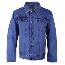 Wacky Jeans Men's Classic Premium Cotton Button Up Denim Jean Jacket Blue (4XL (