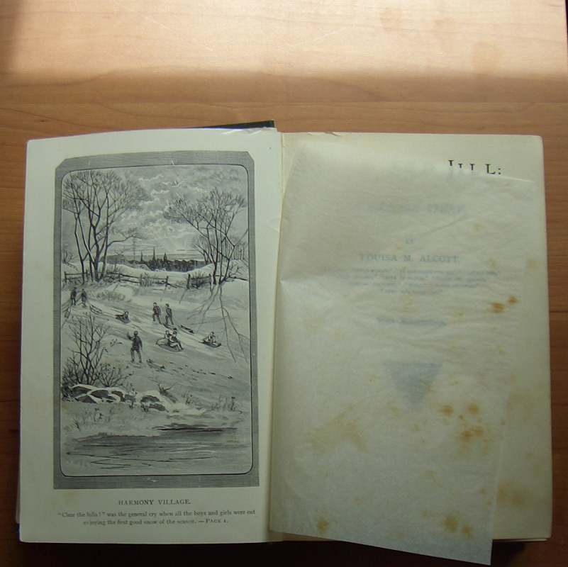 Louisa May Alcott Book Jack and Jill 1899 with illustrations