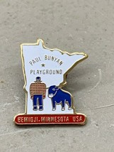 Paul Bunyan playground Bemidji MN Minnesota shaped pin babe blue ox - $9.99