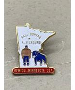 Paul Bunyan playground Bemidji MN Minnesota shaped pin babe blue ox - $9.99