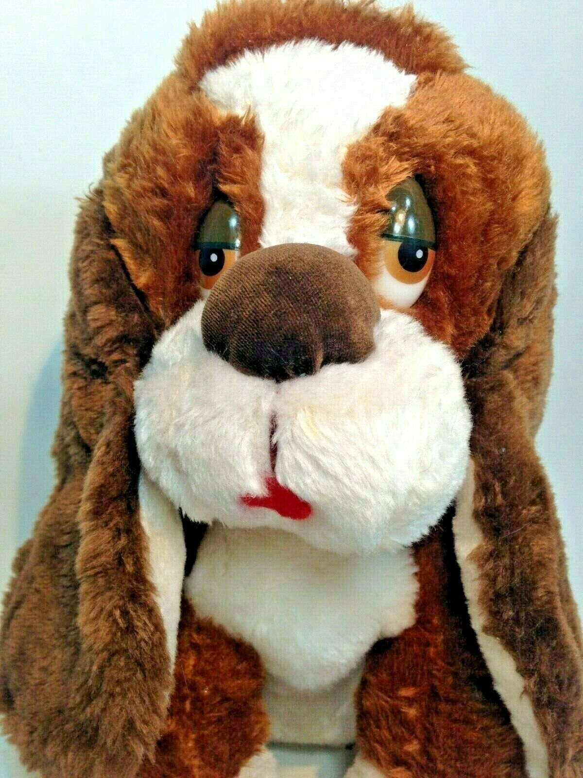 "Primary image for Vintage Russ BAXTER Sad Eyes Puppy Dog Stuffed Animal LARGE Brown Plush 12"" -873"