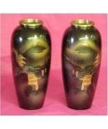 Vases, 1 Pair of Oriental Brass - $40.00