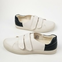 Nine West Oleandro Hook Strap Fashion Sneakers 303, Off White/Black, 8 US - $44.38