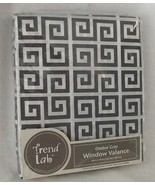 Ombre Gray Window Valance Trend Lab Greek Key Grey White Pattern Free Sh... - $19.78