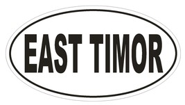 East Timor Oval Bumper Sticker or Helmet Sticker D2286 Euro Oval Country Code - $1.39+