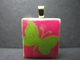 Glitter Butterfly - Scrabble Tile Pendant - $5.00