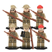 British World War 2 Scenes Military Army Soldier With Weapon Fit Lego Bl... - $10.99