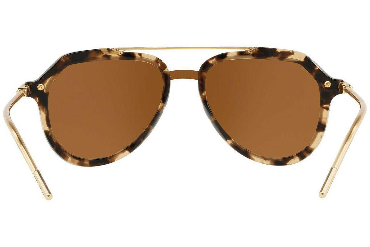 DOLCE & GABBANA PRINCE DG4330 Gold Beige Havana Mirrored Sunglasses  Unisex image 4